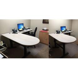 """Adjustable """"L"""" shape desk"""