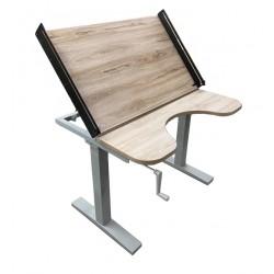 Custom tiltable manual table