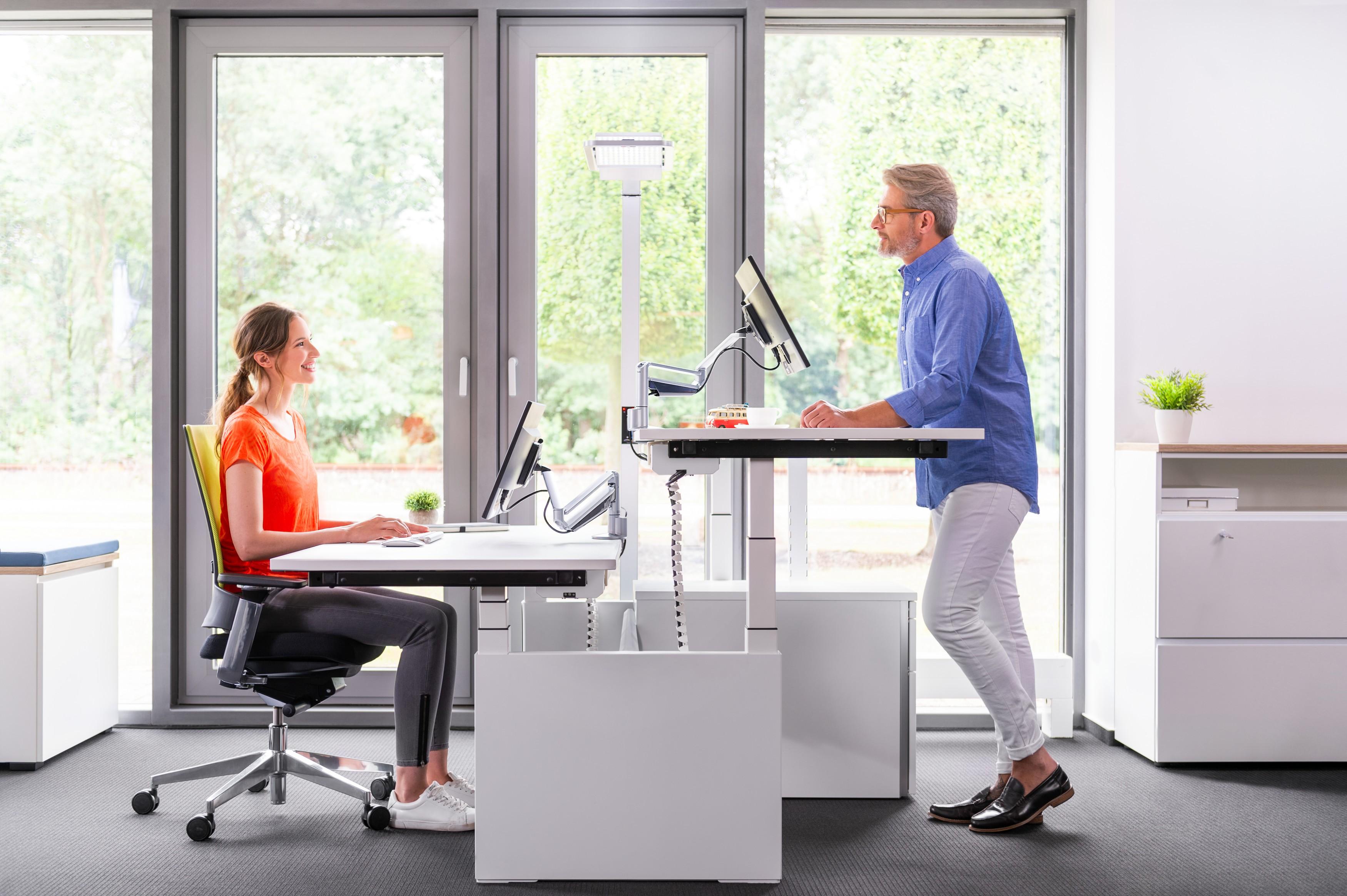 Table Ergonomique Ajustable Inclinable Electrique Linak Dl6